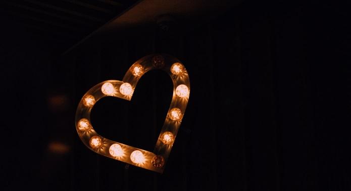 heart on black background desktop