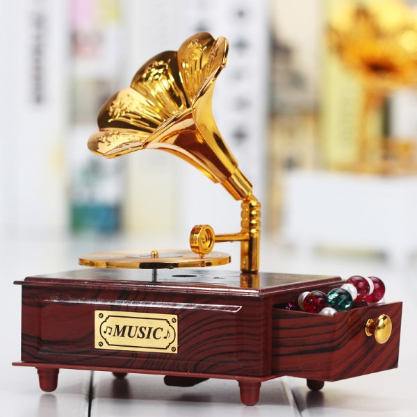 Gramophone Drawer Music Box