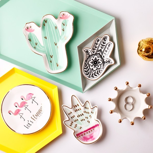 Kawaii Ceramic Jewelry Plate