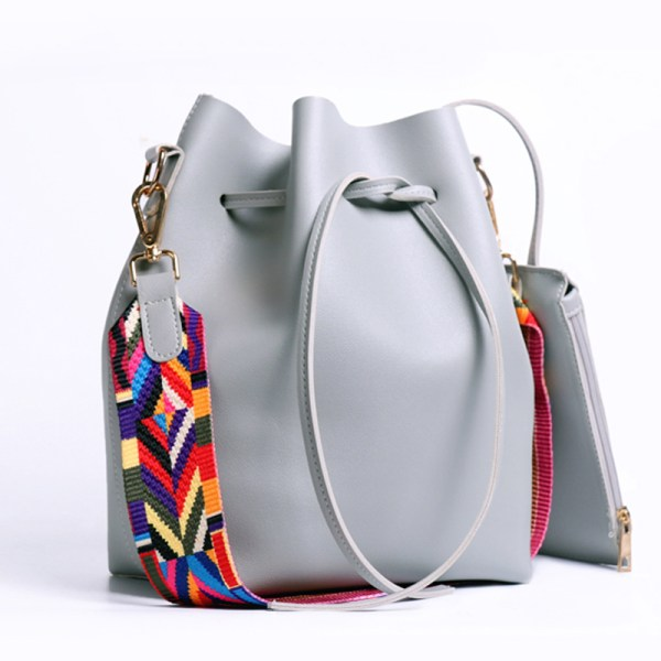 Nathaniel Colorful Strap Bucket Bag