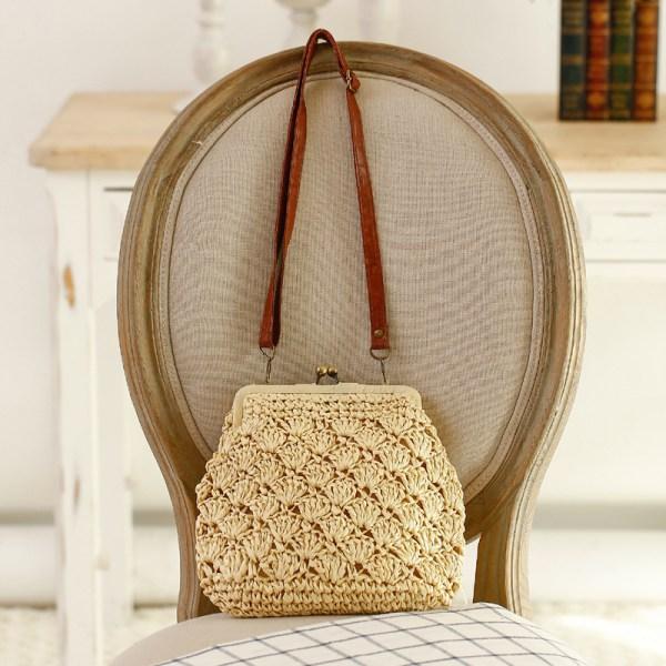 Santa Barbara Straw Weave Beach Bag