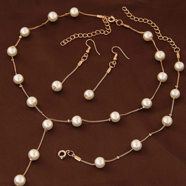 Imitation Pearl Bridal Jewelry Sets 4
