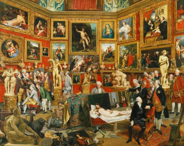 Johann Zoffany the Tribuna of Uffizi