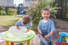 jude 4 ben 3 play summer garden water home sunny day wet August 2015_1