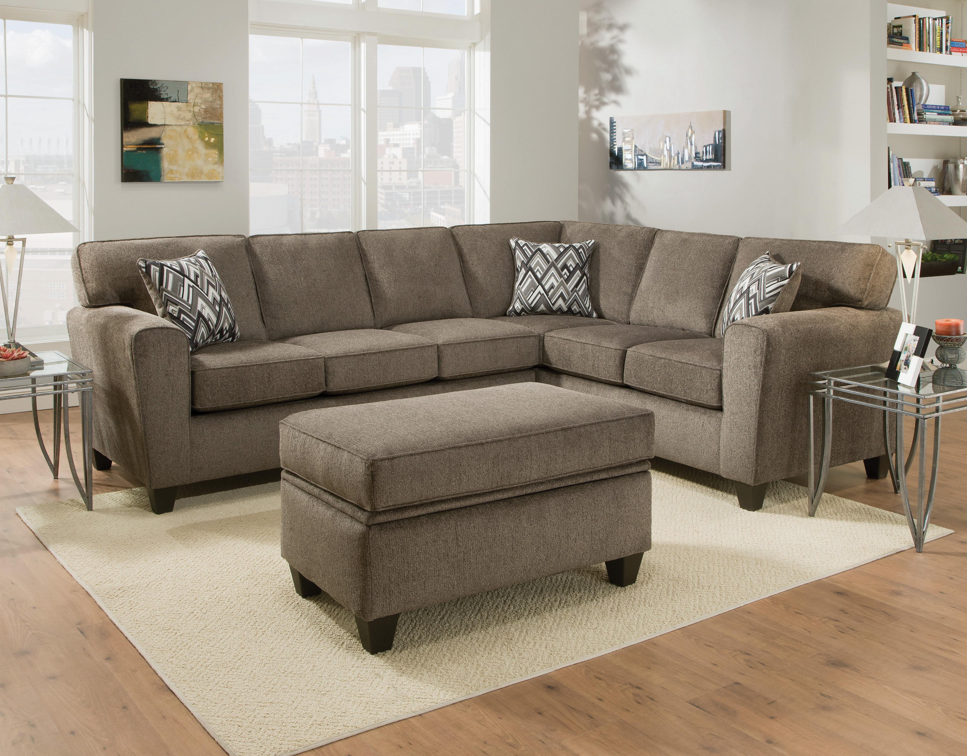 pewter sofa bed black leather with yellow pillows 3100 cornell sectional  awfco catalog site