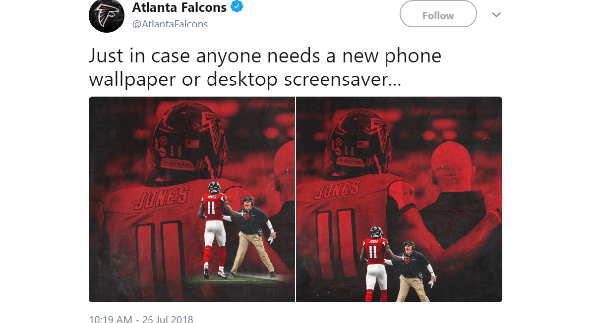 the falcons expertly trolled