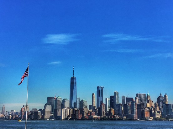 View from Liberty Island boat