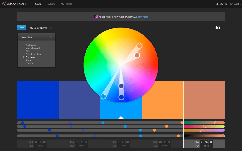 Adobe Kuler Color Image | Colorpaints.co
