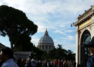 Day 2 - St. Peters Basilica from the Vatican Museum