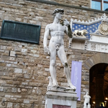Day 4 - fake David outside of Uffizi