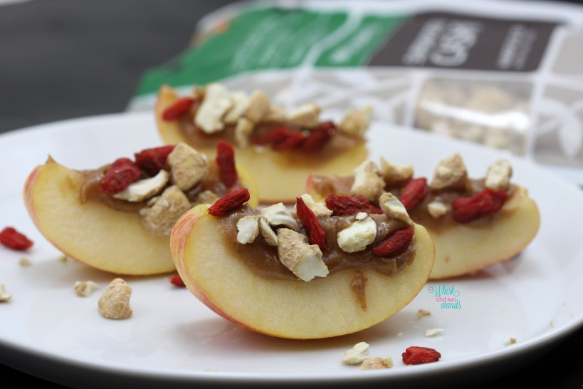 Superfood Caramel Apple Bites