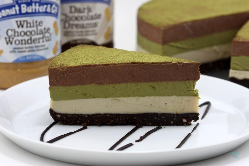 "Double Chocolate Peanut Butter Matcha ""Cheesecake"""