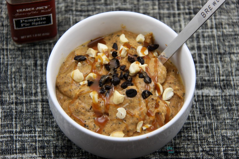 Nutty Pumpkin Spice Latte Smoothie Bowl