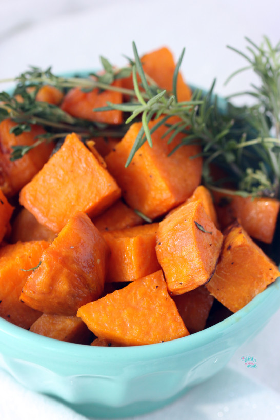 Herb Roasted Sweet Potatoes -