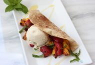 Grilled Fruit Dessert Tacos (dairy free, vegan, gluten free friendly)