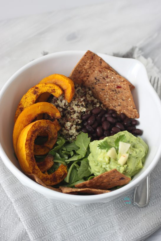 Pumpkin Taco Bowl with Apple Guacamole