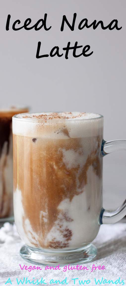 Iced Nana Latte, A Whisk and Two Wands