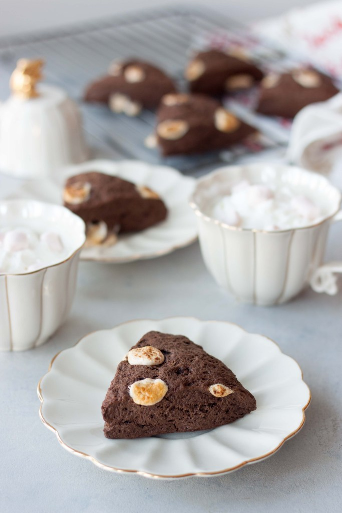 Marshmallow Hot Cocoa Scones (Mocha and peppermint options!)