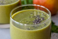 Gingerly Pear Smoothie, green smoothie