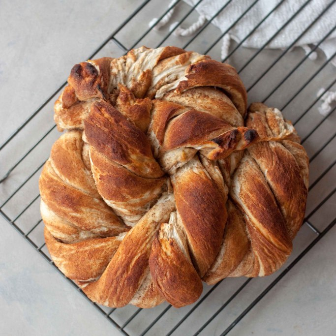 A Whisk and Two Wands Cinnamon Swirl Sourdough Twist