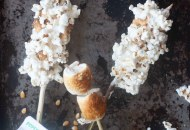 Roasted Marshmallow Popcorn on a Stick
