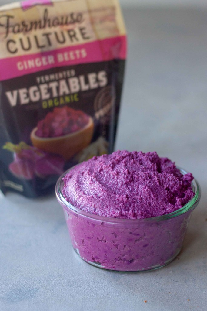 Purple Probiotic Ginger Beet Hummus