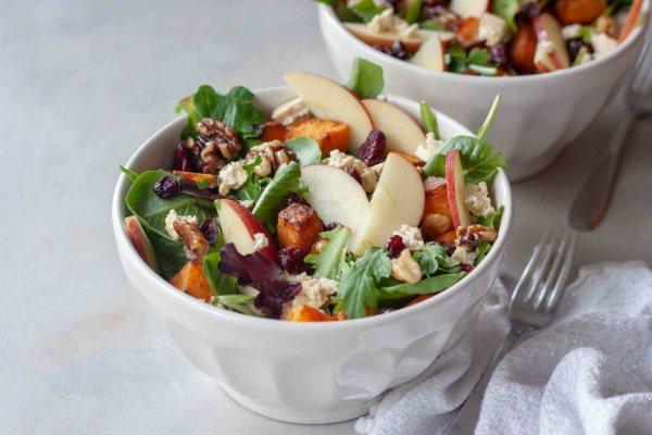 Harvest Apple Salad in bowls