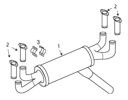 American Champion 8GCBC Exhaust System Itemized Parts List