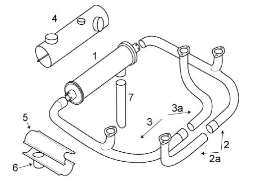 Beechcraft 19-23 Musketeer Exhaust System Itemized Parts List