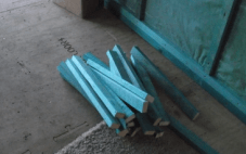 A pile of battens cut to size