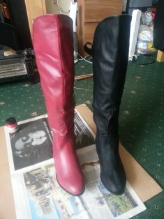 Supergirl boots before and after coat 1