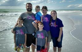 The Wilmeth Family enjoying God's beautiful & magnificent masterpiece and blessings in Florida!
