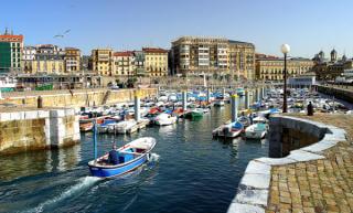 Basque country city of San Sebastian