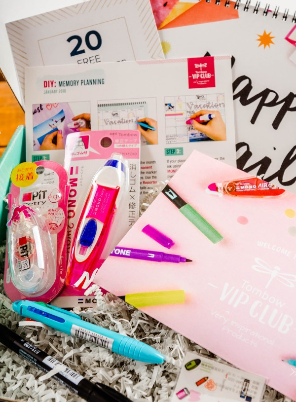 Tombow VIP Club Subscription | January 2018