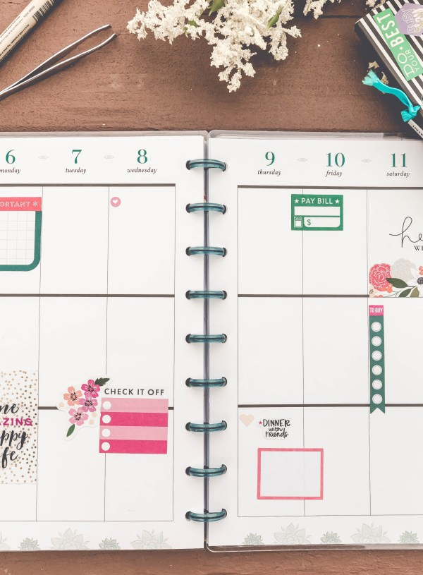 How to Create Your First Planner Spread