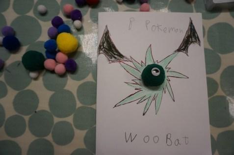 Pokemon card-woobat 1