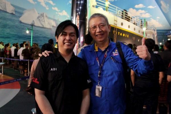 With Mr. Budy Trans Studio Team