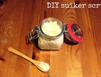 DIY suiker scrub