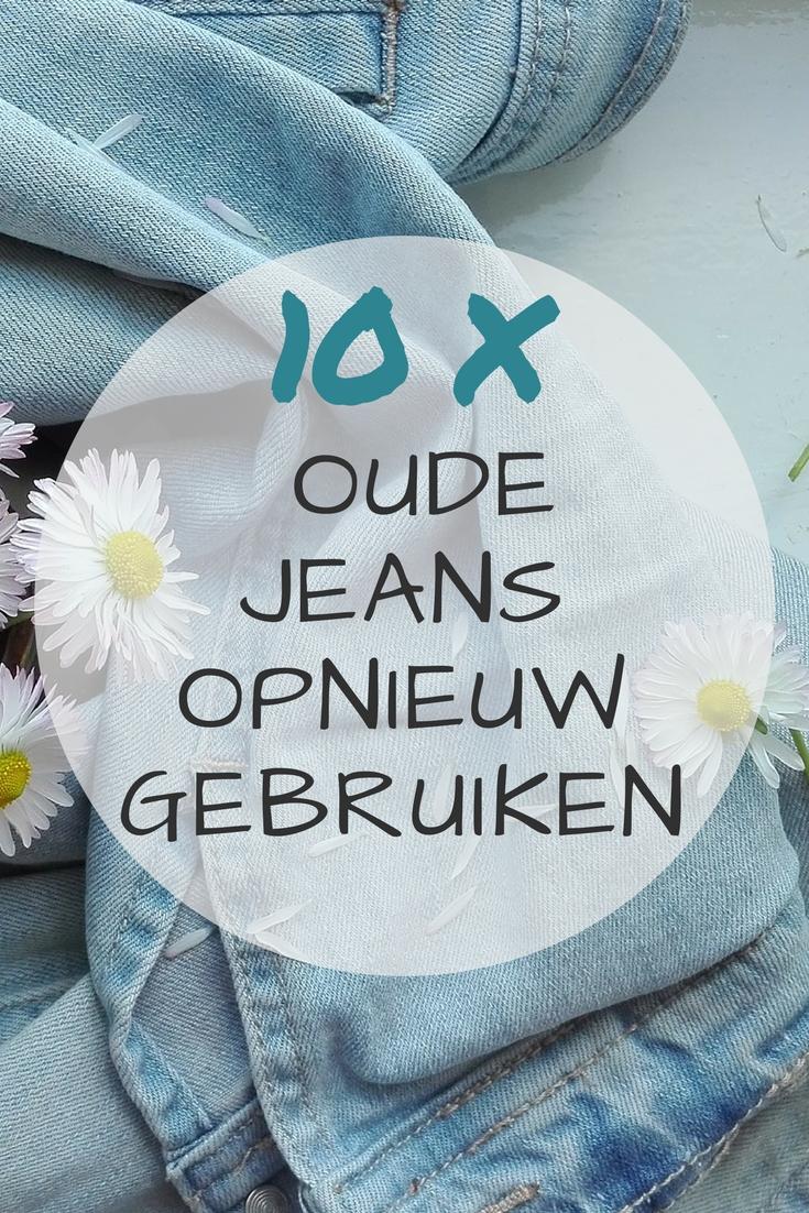 10 tips om oude jeans opnieuw te gebruiken