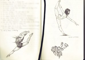Some dancers. The squiggly bit at the bottom right is me trying out a brush pen.