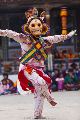 Dance of the Skeletons at the Tamshingphala Choepa festival in Bumthang.