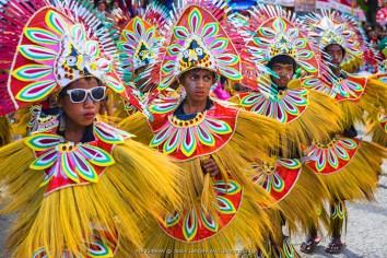 Participants celebrate Ati-Atihan festival in honor of Santo Niño, Kalibo, Aklan, Western Visayas, Philippines