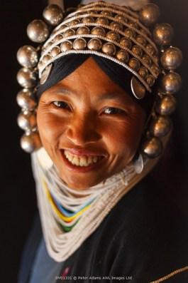 Akha woman, hill-tribe, nr Kyaing Tong, Golden Triangle, Myanmar (Burma)