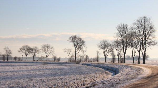 Prachtige winterdag gisteren. Deze foto werd gemaakt door Martin Vye,