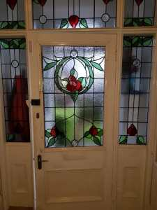 Stained Glass Door - After