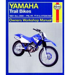 picture of haynes manual 2350 yamaha trail bikes owners 81 00 s order [ 1200 x 1200 Pixel ]