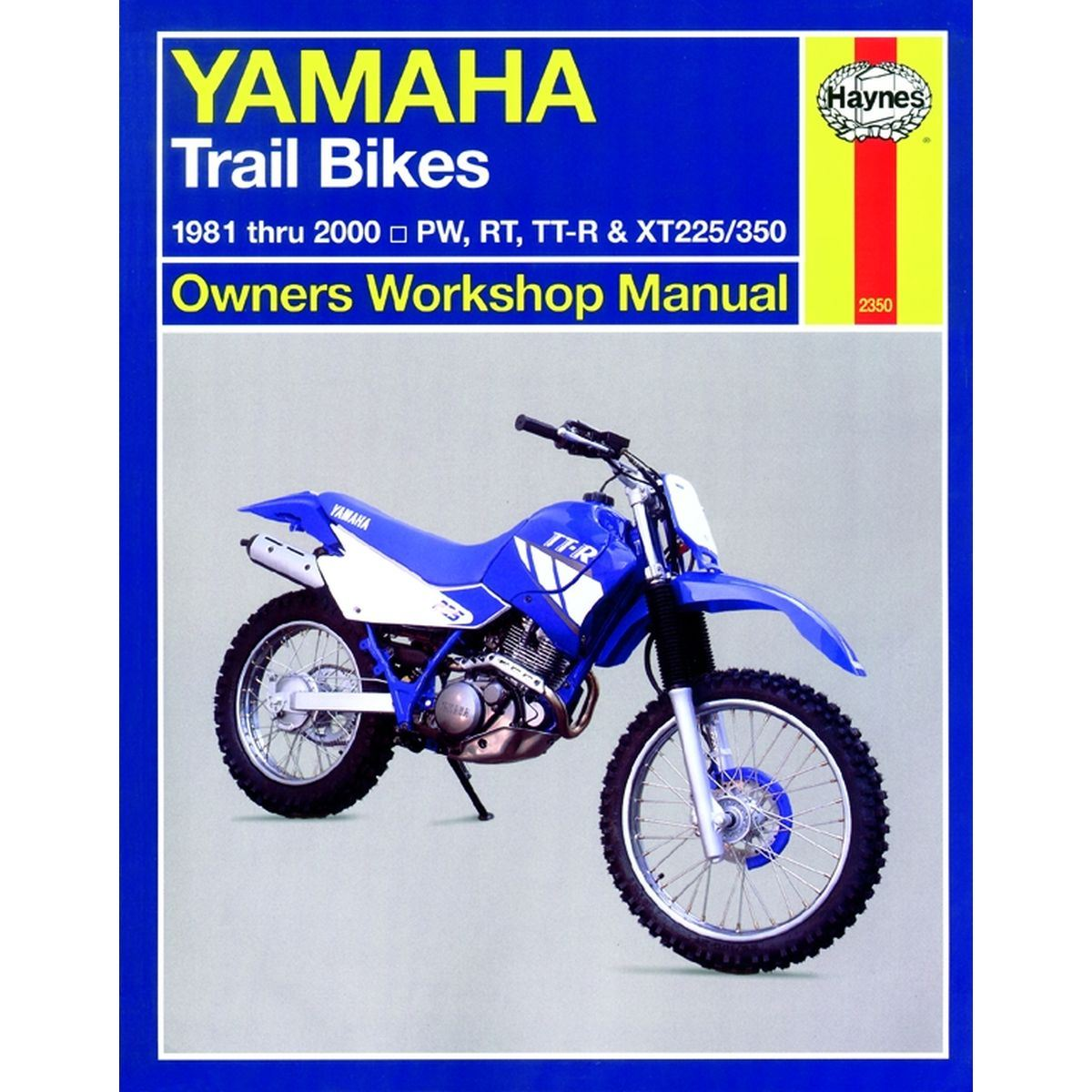 hight resolution of picture of haynes manual 2350 yamaha trail bikes owners 81 00 s order