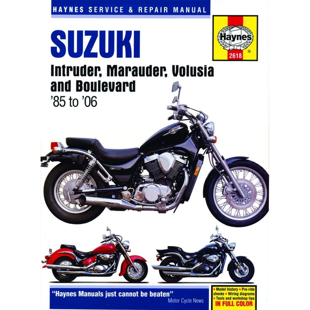hight resolution of aw motorcycle parts haynes manual 2618 suz intruder 1995 suzuki intruder 800 wiring diagram 1994 suzuki