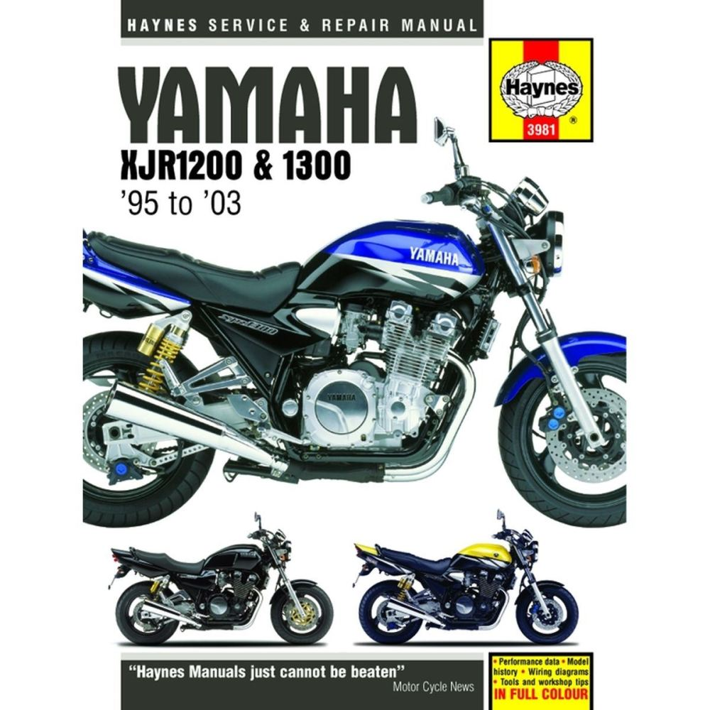 medium resolution of picture of haynes manual 3981 yam xjr1200 1300