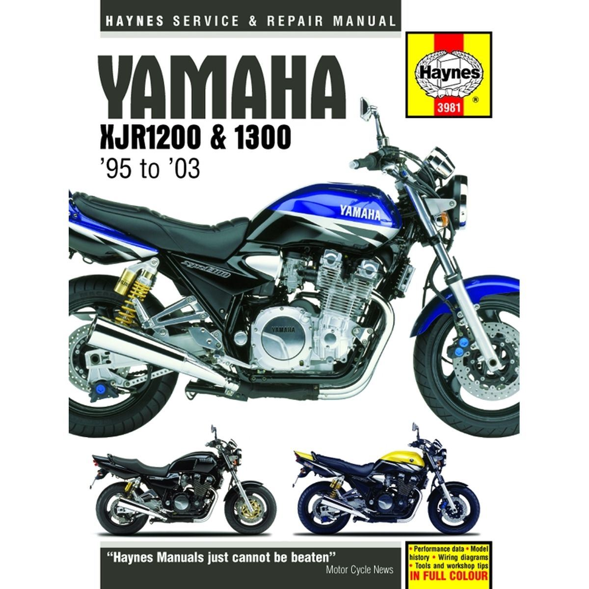 hight resolution of picture of haynes manual 3981 yam xjr1200 1300